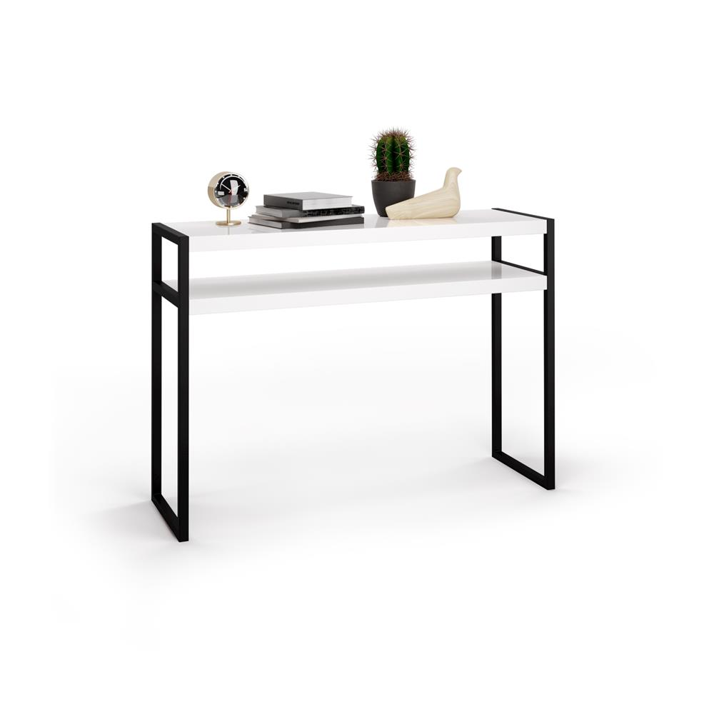 Console Hauteur 90 Table Console Luxury Blanc Brillant Mobili Fiver