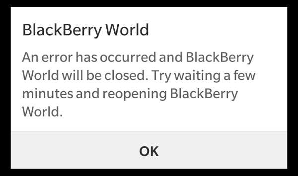 Who else is getting these errors on their BlackBerry 10 phone?