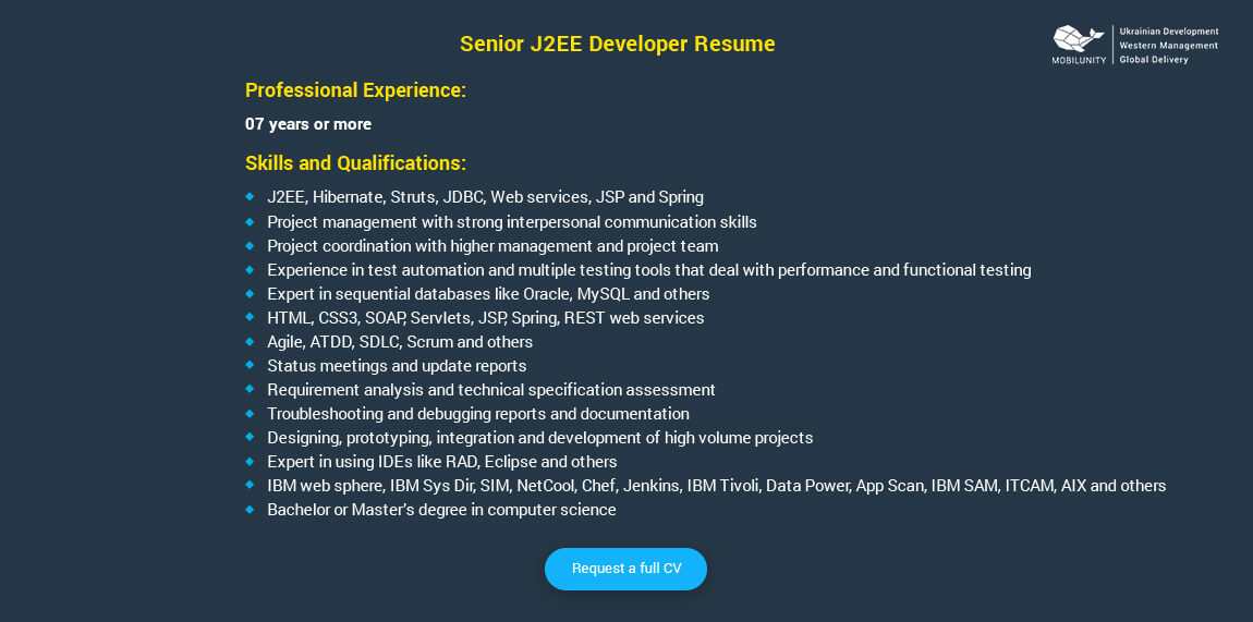 Employ Highly Skilled J2EE Developers at Low Price Mobilunity
