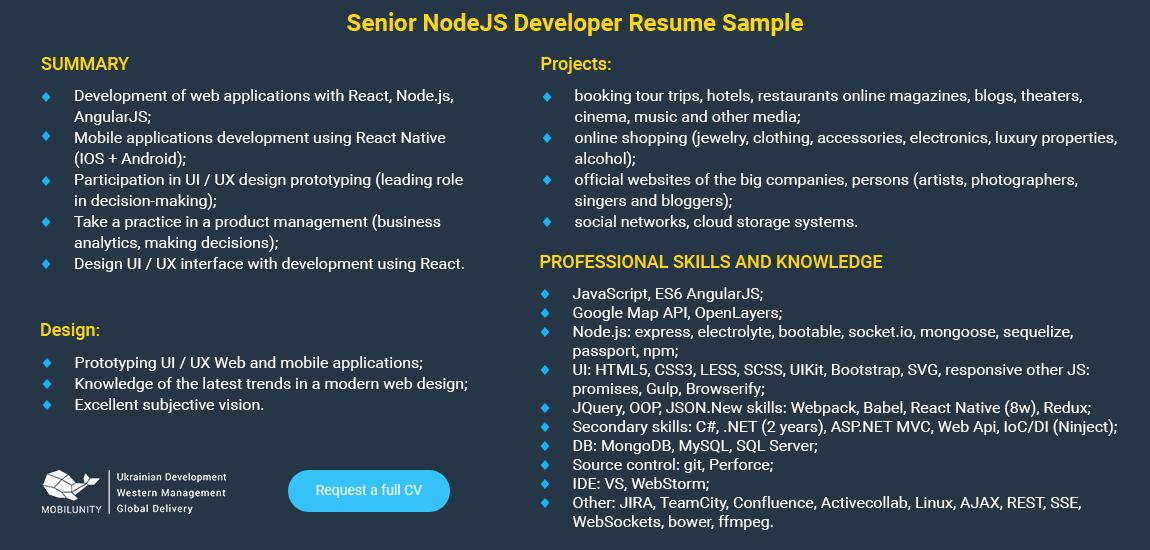 node js resume download