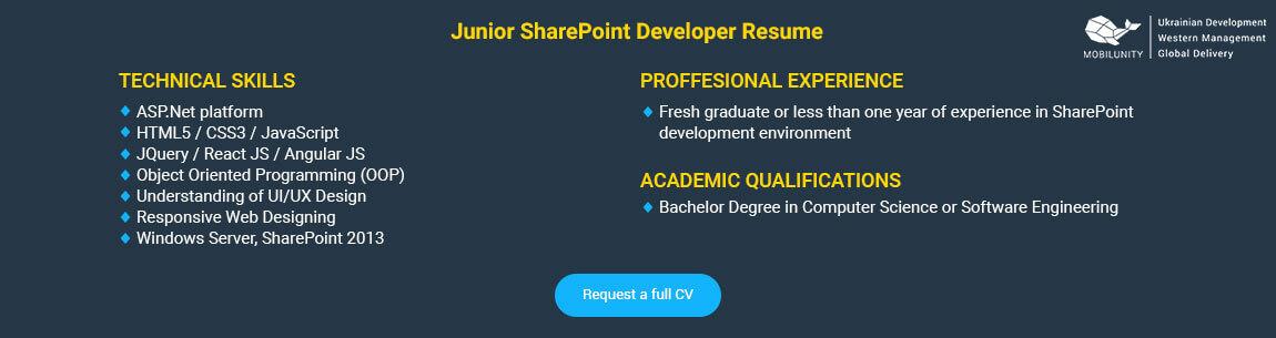 sharepoint developer resume - Minimfagency