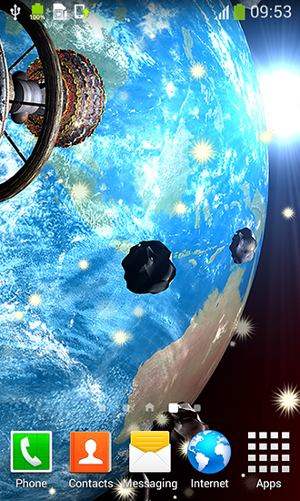 Asteroids live wallpaper for Android. Asteroids free download for tablet and phone.