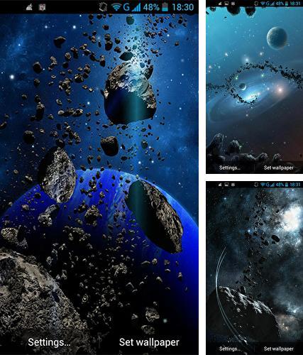 Asteroids 3d Live Wallpaper Apk Los Fondos De Pantalla Animados Espacio Para Android