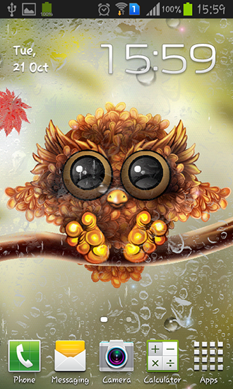 Free Fall Themed Desktop Wallpaper Autumn Little Owl Para Android Baixar Gr 225 Tis O Papel De