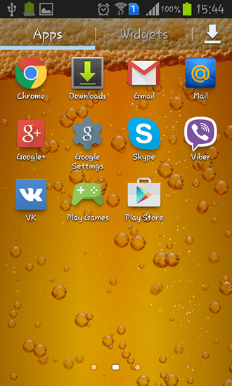 Beer für Android kostenlos herunterladen. Live Wallpaper Bier für Android.