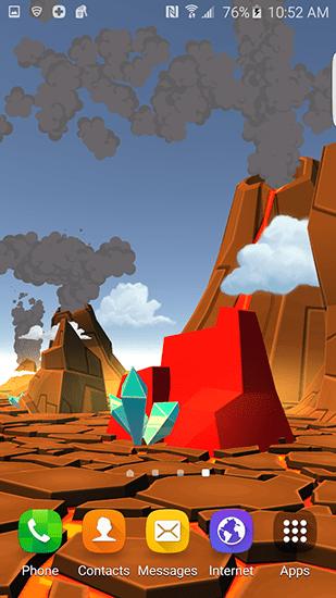 3d Wallpaper Parallax Free Apk Download Cartoon Volcano 3d Live Wallpaper For Android Cartoon