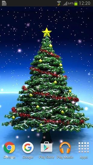 Falling Leaves Live Wallpaper Full Apk Christmas Trees Live Wallpaper For Android Christmas