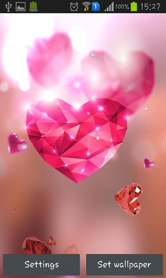 3d Image Live Wallpaper Apk Descargar Descargar Diamond Hearts By Live Wallpaper Hq Para Android