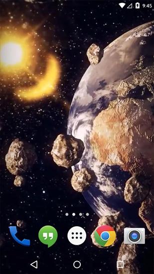 3d Galaxy Live Wallpaper Full Apk Earth Asteroid Belt Live Wallpaper For Android Earth