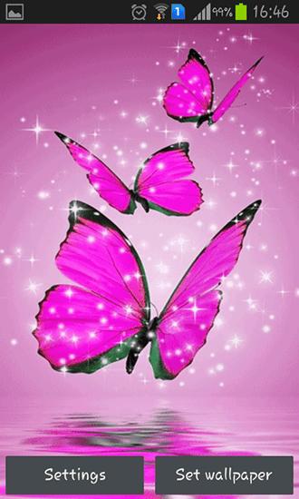 3d Image Live Wallpaper Apk Descargar Descargar Pink Butterfly Para Android Gratis El Fondo De