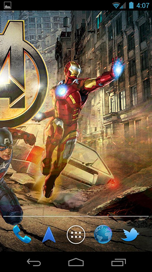 The avengers live wallpaper for Android. The avengers free download for tablet and phone.