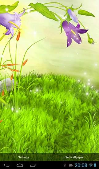 3d Grass Live Wallpaper Apk  The Sparkling Flowers Live Wallpaper For Android The