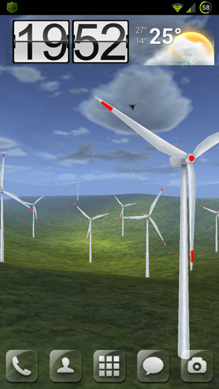 Screen Washer Girl Wallpaper Wind Turbines 3d Pour Android 224 T 233 L 233 Charger Gratuitement