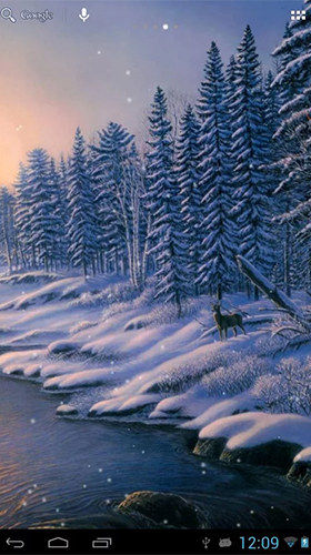 Winter snow by HD WALL MEDIA live wallpaper for Android. Winter snow by HD WALL MEDIA free ...