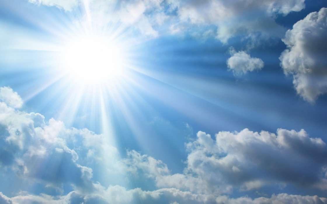 Descargar la imagen en teléfono Paisaje, Fondo, Cielo, Sol, Nubes - fondo nubes
