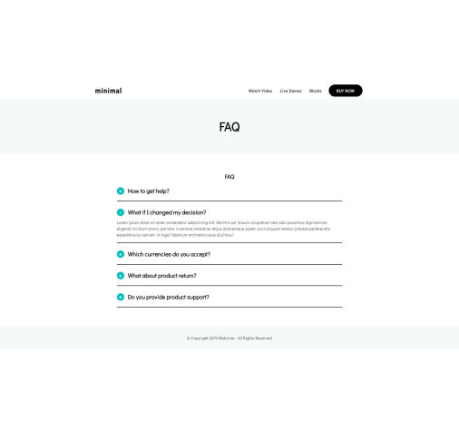 Simple Responsive Contacts Template - SimpleAMP