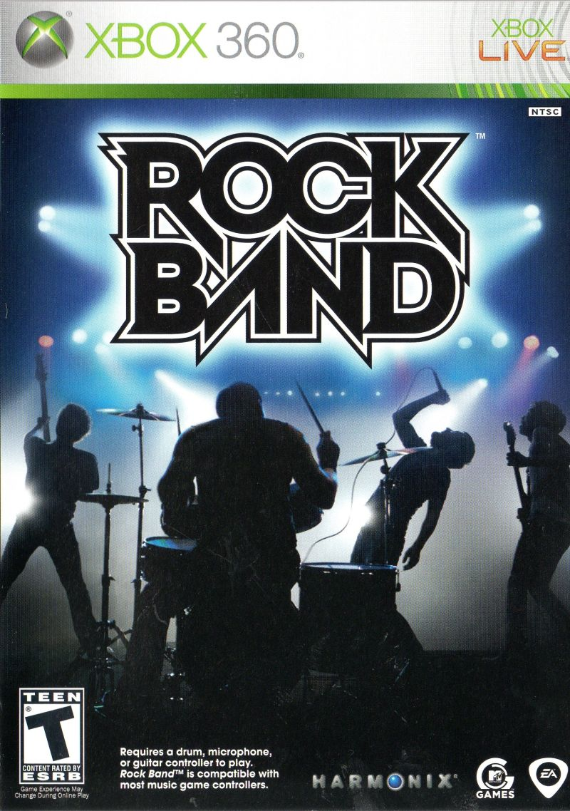 Rock Music Cover Rock Band 2007 Xbox 360 Box Cover Art Mobygames