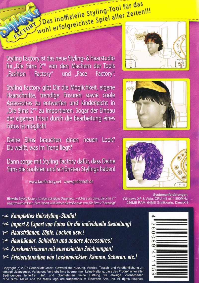 Styling Kurzhaarfrisuren Styling Factory 2007 Windows Box Cover Art Mobygames