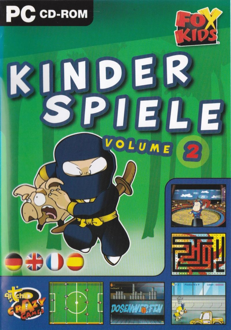 Kinder Aufwärmspiele Fox Kids Kinder Spiele Volume 2 2002 Windows Box Cover
