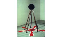 5 Sticks, 1992Wood, wig, fabric and rock,	66 x 66 x 63 inches (167.64 x 167.64 x 160.02 cm)Gift of Peter Norton