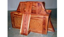 Crate Ziggurat (Cedar #2), 2004Aromatic cedar and elm burl wood, 42 1/2 x 30 x 23 1/2 inches (107.95 x 76.2 x 59.69 cm)Purchased with funds provided by Pop Love