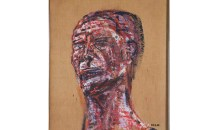 2009.03.04Golub, LeonPortrait1955Oil on Burlap36 in. x 29 1/4 in. (91.44 cm x 74.3 cm)Collection of the Museum of Contemporary Art, North Miami Gift of Joan and Roger Sonnabend