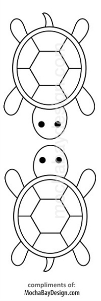 Print Turtle Coloring Page - bookmark coloring pages