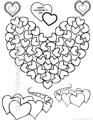 Printable Adorable Dog Valentine\u0027s Day Coloring Page