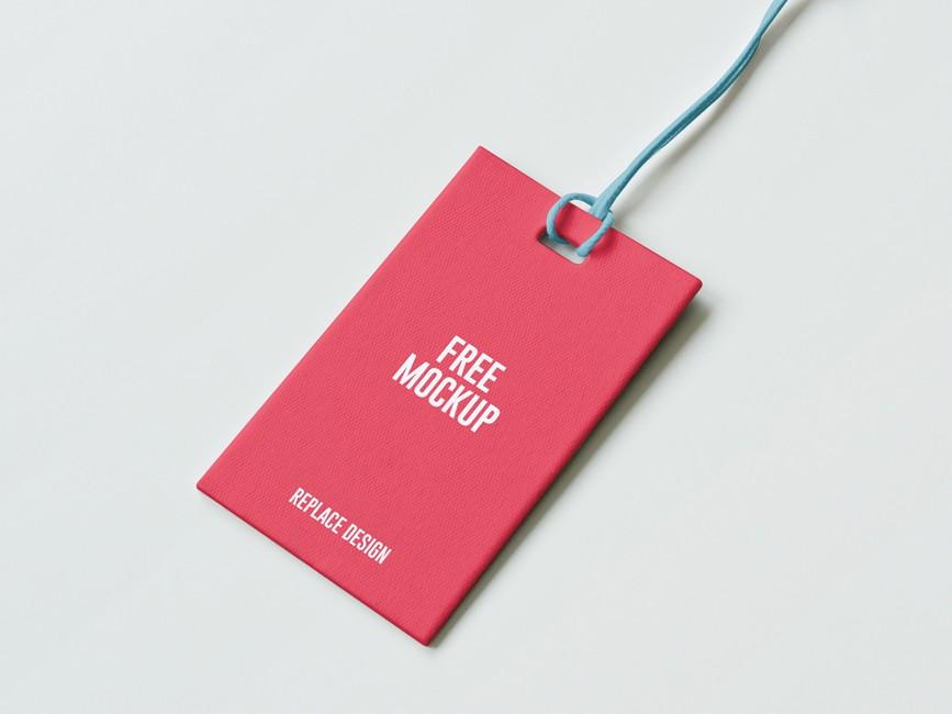 Paper Label Tag Psd Mockup Mockup Love