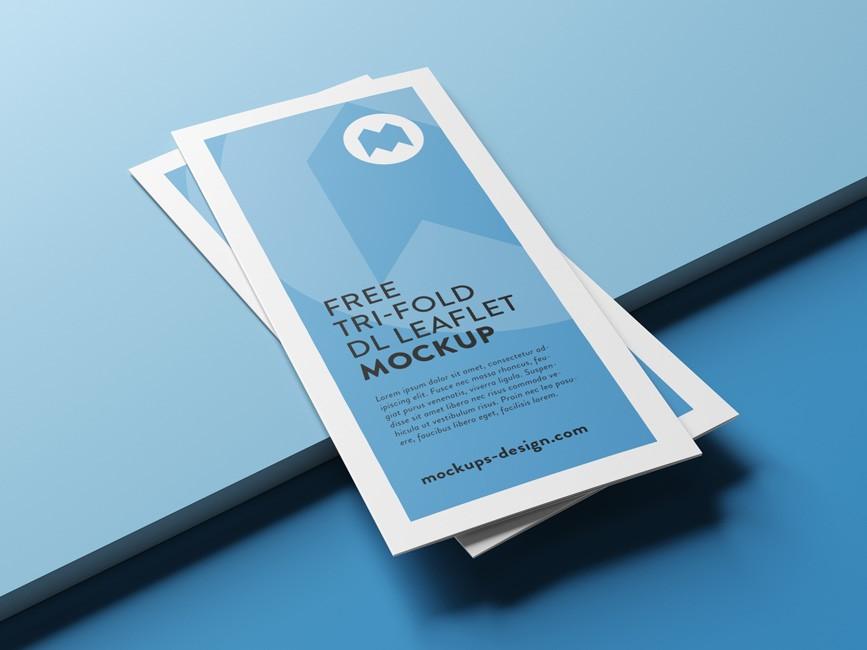 Tri-fold Brochure Mockup Bundle - Mockup Love