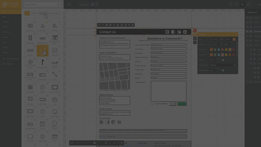 Mockup Builder \u2014 Online web prototyping wireframe tools, software