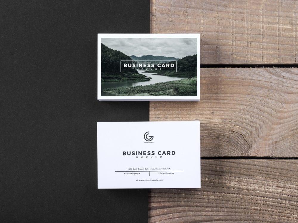 Free Business Card Mockup PSD Template - Mockup Free Downloads