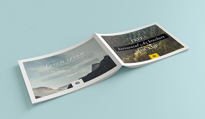 Landscape brochure mockup - Mockups Design Free Premium Mockups