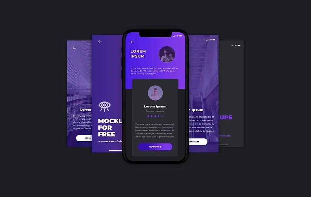 App Screen Mockup - Mockups For Free