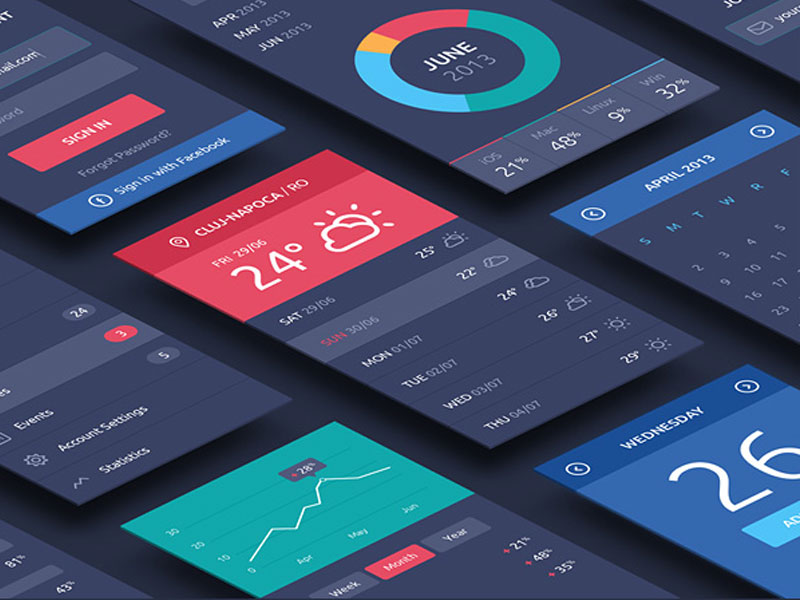 Perspective App Screens PSD Mockup MockupsQ