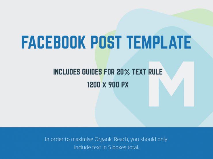 Facebook Post Template PSD - Mockup Templates
