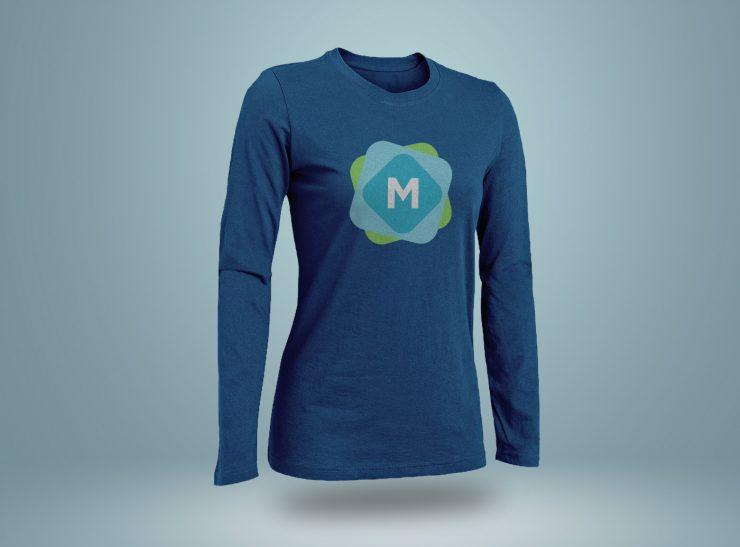 Long  Short Sleeve T-Shirt Mockups - Mockup Templates
