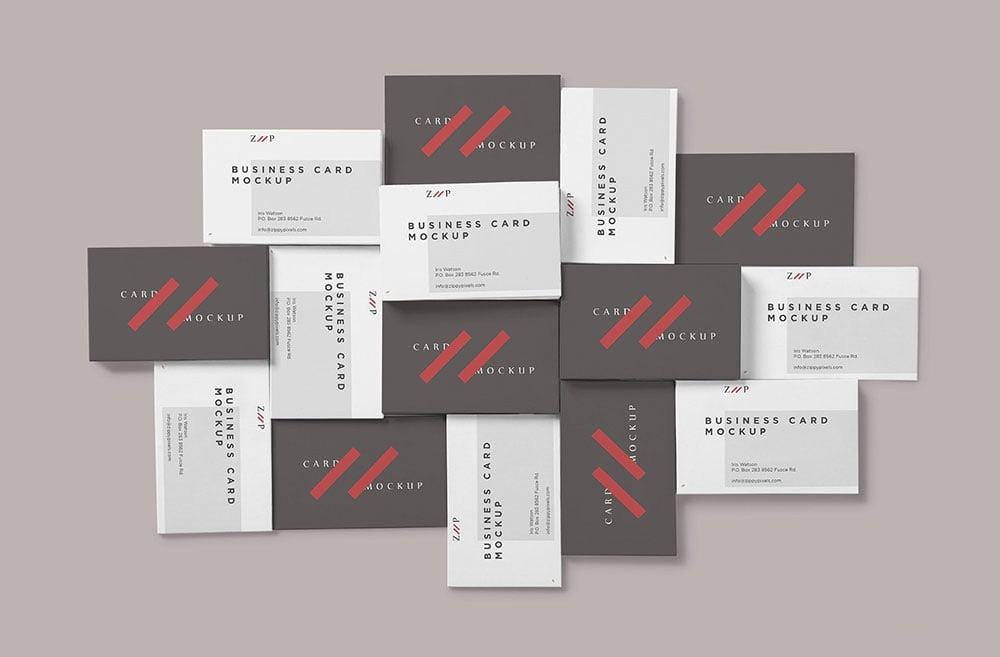 Free Visiting Business Card Mockup Mockuptree