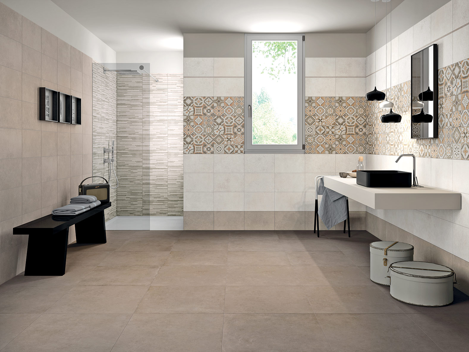 Bagno Moderno Gres Serie Background Pavimenti E Rivestimenti Moda