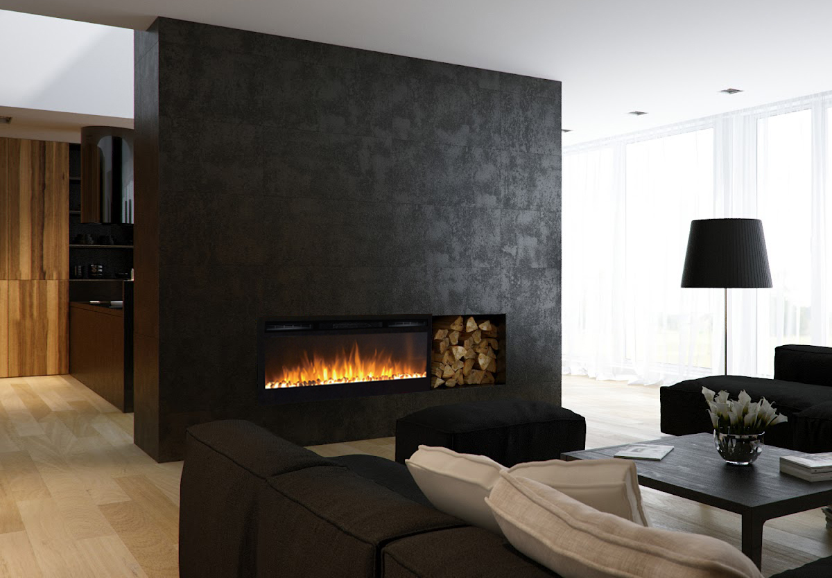 Electric Fireplace Built Into Wall 36 Inch Cynergy Pebble Built In Recessed Wall Mounted Electric Fireplace