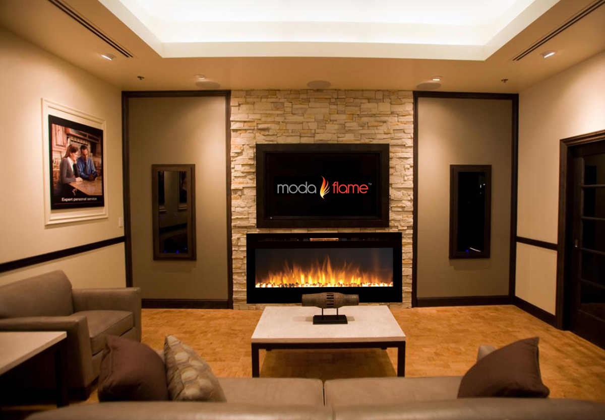 Electric Fireplace Built Into Wall 50 Inch Cynergy Pebble Stone Built In Wall Mounted Electric Fireplace