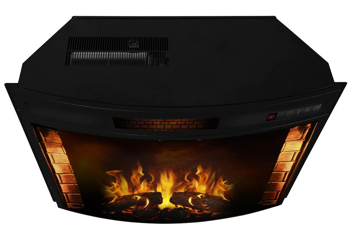 Curved Electric Fireplace Elwood 26 Inch Curved Electric Fireplace Insert