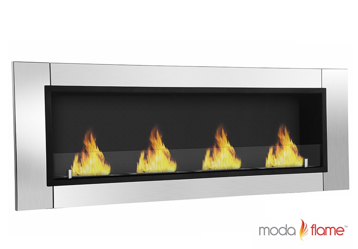 Wall Mount Fireplaces Wraith Ventless Bio Ethanol Wall Mounted Fireplace
