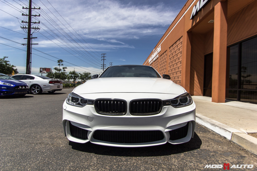Bmw M3 E 46 Bmw F30 With A F80 M3 Style Bumper Upgrade. | Mod Auto