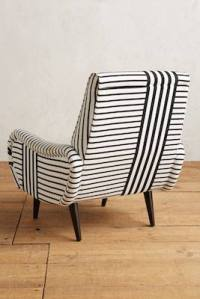 Mid-century-inspired striped losange chair from ...