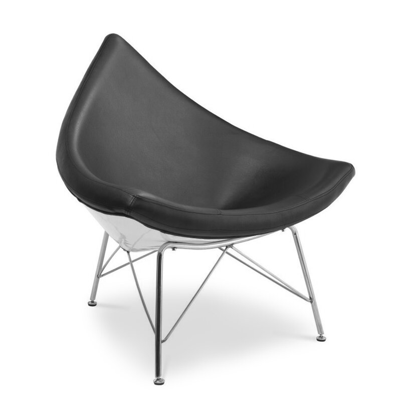 Panton Chair Classic George Nelson Coconut Chair - Black, 499,00