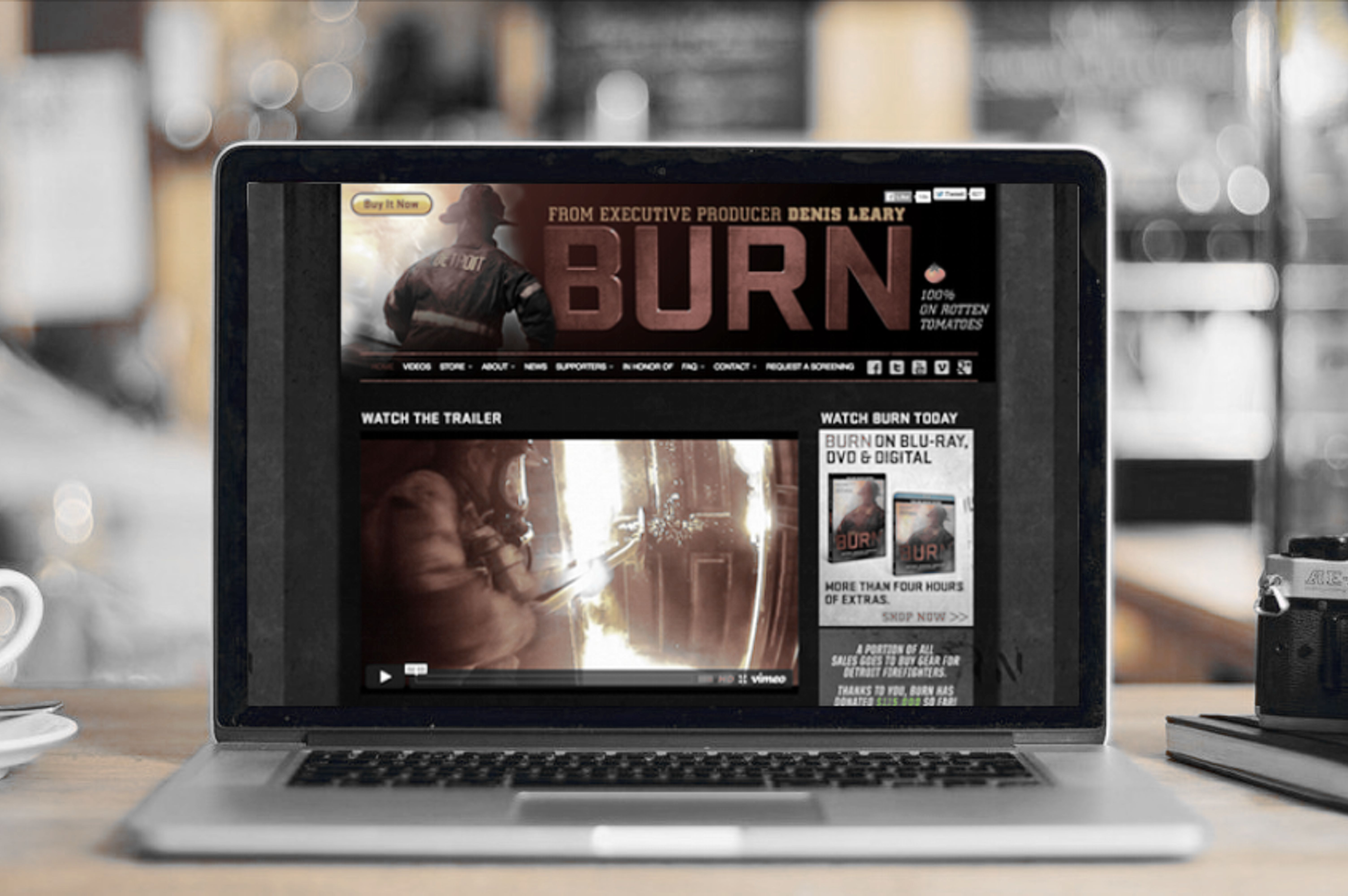 Laptop Orten Burn Header Mode Effect