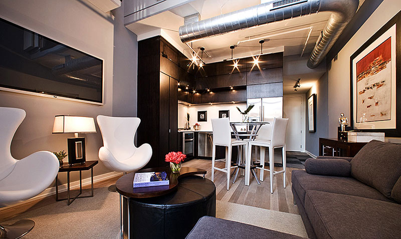 Model home interiors townhomes condominiums - Simple and model home interiors ...
