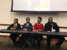 Naturally Professional Panel: (l-r) Carrie Conner, Jamie Littlejohn, Pearl Walker-Ali, Jordan Thomas Brock (Photo Courtesy of Carrie Conner)