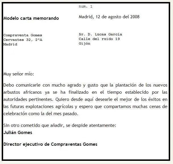 modelo-carta-memorandojpg (608×574) memorandum Pinterest - memorandum